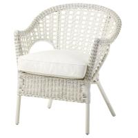 ФИННТОРП/ЮПВИК Кресло с подушкой-сиденьем, белый