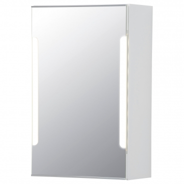 СТОРЙОРМ шкафчик зеркальный с дверцей и подсветкой