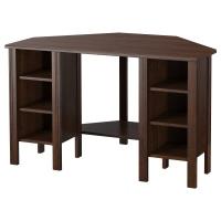 БРУСАЛИ стол письменный угловой коричневый