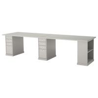 КЛИМПЕН стол письменный 300 x 75 см серый