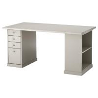КЛИМПЕН стол серый, светло-серый 150 x 75 см