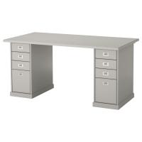 КЛИМПЕН стол серый, светло-серый