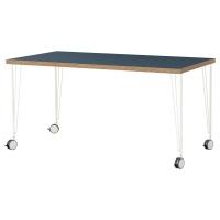 ЛИННМОН / КРИЛЛЕ стол письменный 150 x 75 см