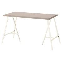 ЛИННМОН / ЛЕРБЕРГ стол письменный с геометрическим рисунком столешницы