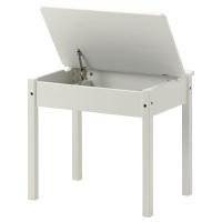 СУНДВИК стол с отделением для хранения белый
