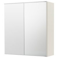 ЛИЛЛОНГЕН шкаф зеркальный с 2 дверцами белый