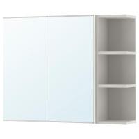 ЛИЛЛОНГЕН шкафчик зеркальный с 2 дверцами и открытой полкой