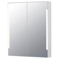 СТОРЙОРМ шкафчик зеркальный с подсветкой 2 дверцы белый