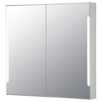СТОРЙОРМ шкафчик зеркальный с подсветкой 2 дверцы белый ширина 100 см