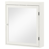 СИЛВЕРОН шкафчик зеркальный белый