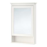 ХЕМНЭС шкаф зеркальный с 1 дверцей белый