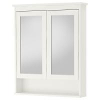 ХЕМНЭС шкаф зеркальный с 2 дверцами белый