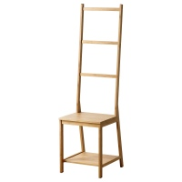 РОГРУНД стул с держателями для полотенец бамбук