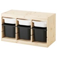 ТРУФАСТ Комбинация д/хранения+контейнерами