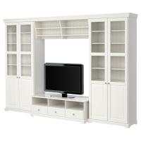 ЛИАТОРП Шкаф для ТВ, комбинация, белый