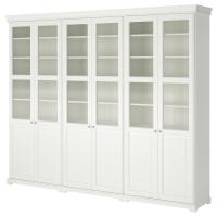 ЛИАТОРП Комбинация для хранения с дверцами, белый