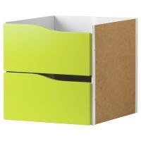 КАЛЛАКС Вставка с 2 ящиками, светло-зеленый зеленый