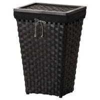 КНАРРА Корзина для белья с подкладкой, черный, коричневый