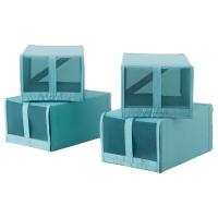 СКУББ Коробка для обуви, голубой