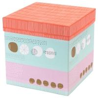 КВИТТРА Коробка с крышкой, разноцветный