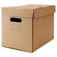 ПАППИС Коробка с крышкой, коричневый