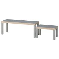 ЛАКК Комплект столов, 2 шт, серый