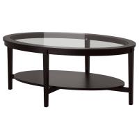 МАЛМСТА Журнальный стол, черно-коричневый