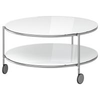 СТРИНД Журнальный стол, белый, никелированный