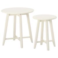 КРАГСТА Комплект столов, 2 шт, черный