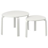 СВАЛЬСТА Комплект столов, 2 шт, белая морилка