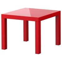 ЛАКК Придиванный столик, глянцевый красный