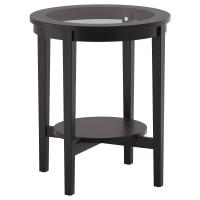 МАЛМСТА Придиванный столик, черно-коричневый