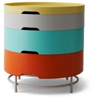 ИКЕА ПС 2014 Столик с отделениями д/хранения, разноцветный