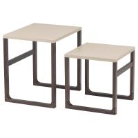 РИССНА Комплект столов, 2 шт, бежевый
