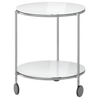 СТРИНД Придиванный столик, белый, никелированный