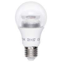 ЛЕДАРЕ Светодиод E27 600 лм, регулируемая яркость, шарообразный прозрачный