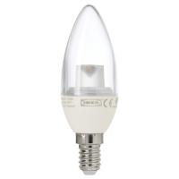 ЛЕДАРЕ Светодиод E14 200 лм, свечеобразный прозрачный