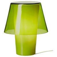ГАВИК Лампа настольная, зеленый, матовое стекло