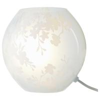 КНУББИГ Лампа настольная, цветы вишни белый