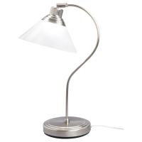 КРУБИ Лампа настольная, никелированный, стекло