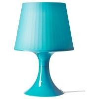 ЛАМПАН Лампа настольная, бирюзовый