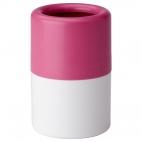 ЛОСШЁН Стакан для зубных щеток, розовый/белый