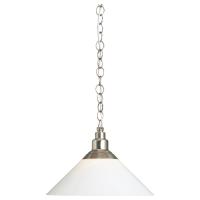 КРУБИ Подвесной светильник, никелированный, стекло
