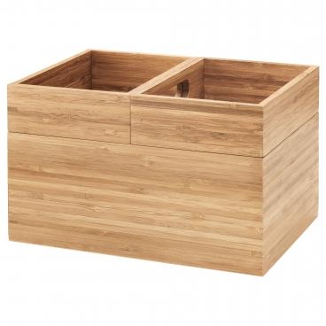 ДРАГАН набор коробок 3 шт бамбук