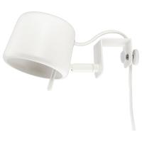 ВАРВ Лампа с зажимом, белый