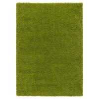ХАМПЭН Ковер, длинный ворс, ярко-зеленый