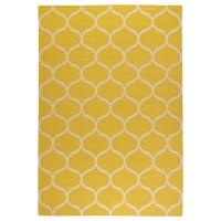 СТОКГОЛЬМ Ковер, безворсовый, сетчатый орнамент ручная работа, сетчатый орнамент желтый желтый