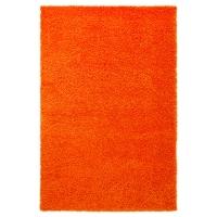 ХАМПЭН Ковер, длинный ворс, оранжевый