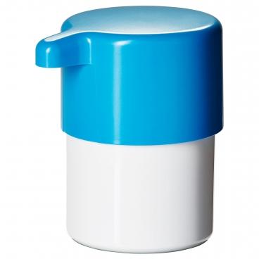 ЛОСШЁН дозатор для жидкого мыла белый / синий