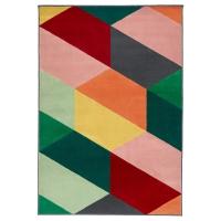 ПАНДРУП Ковер, короткий ворс, разноцветный